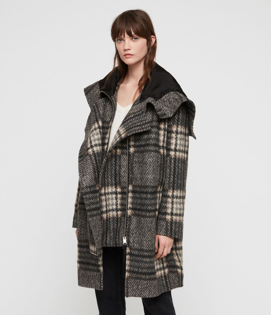Women's Keira Check Parka (black_charcoal) - Image 5