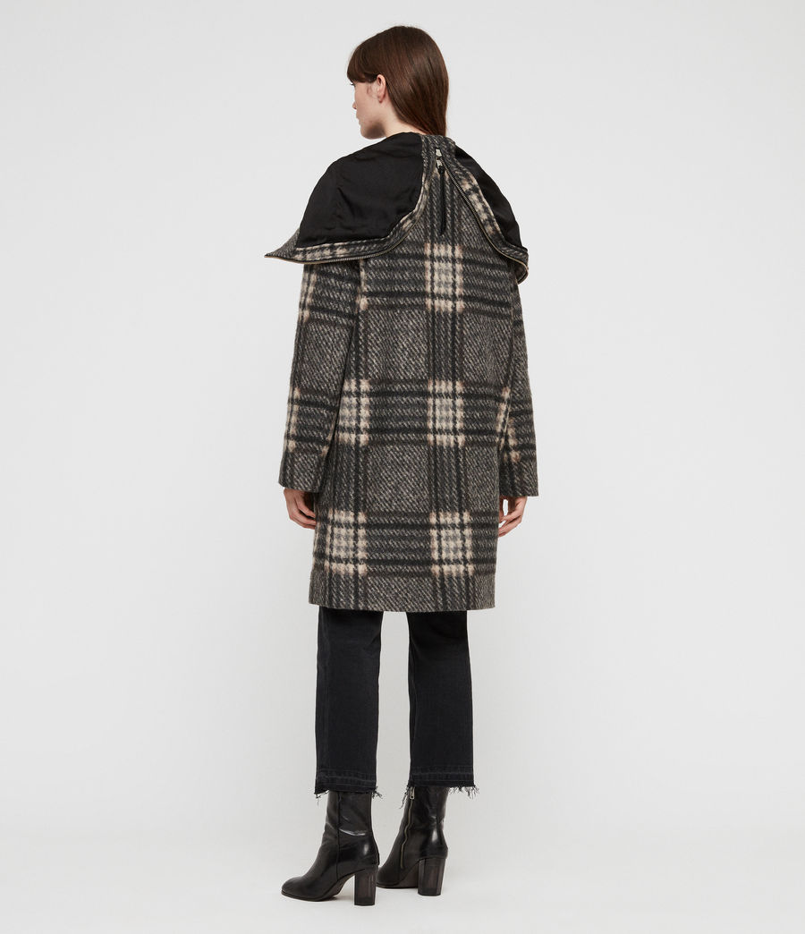 Women's Keira Check Parka (black_charcoal) - Image 7