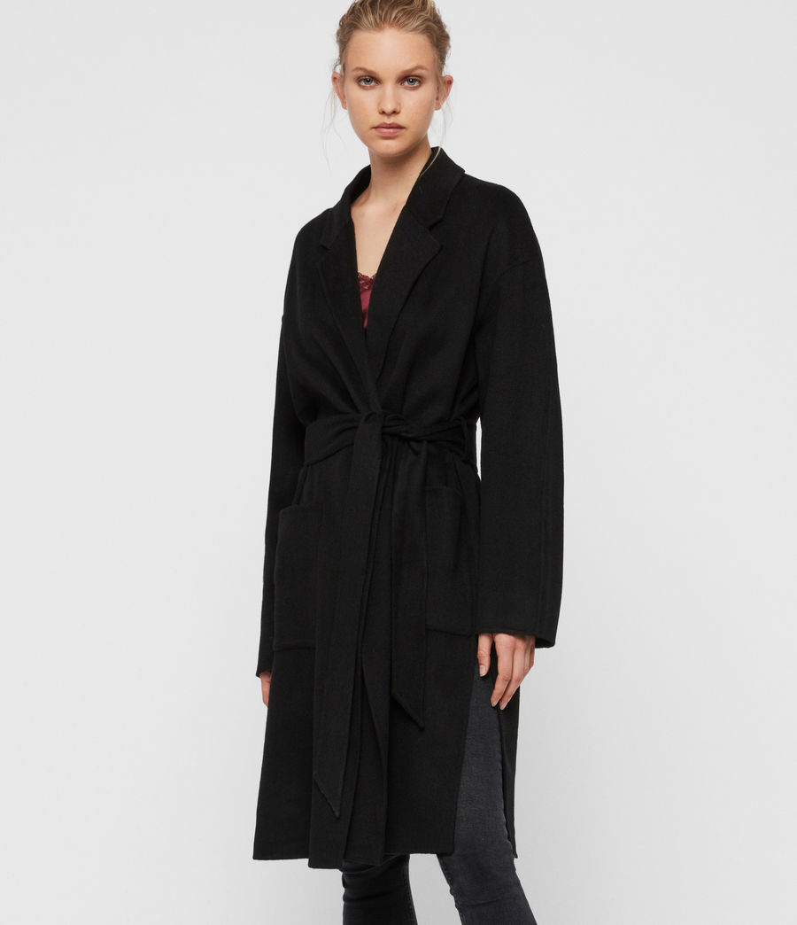 Womens Albie Coat (black) - Image 1