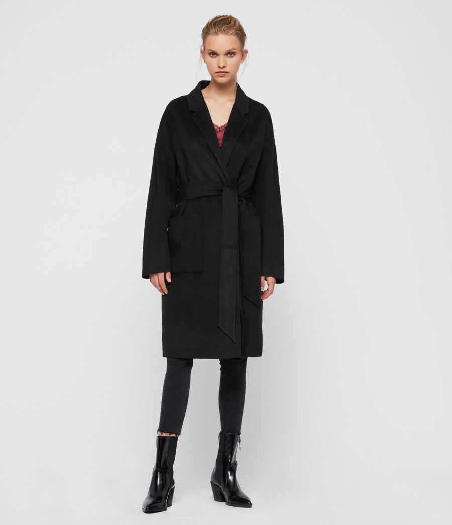 Womens Albie Coat (black) - Image 3
