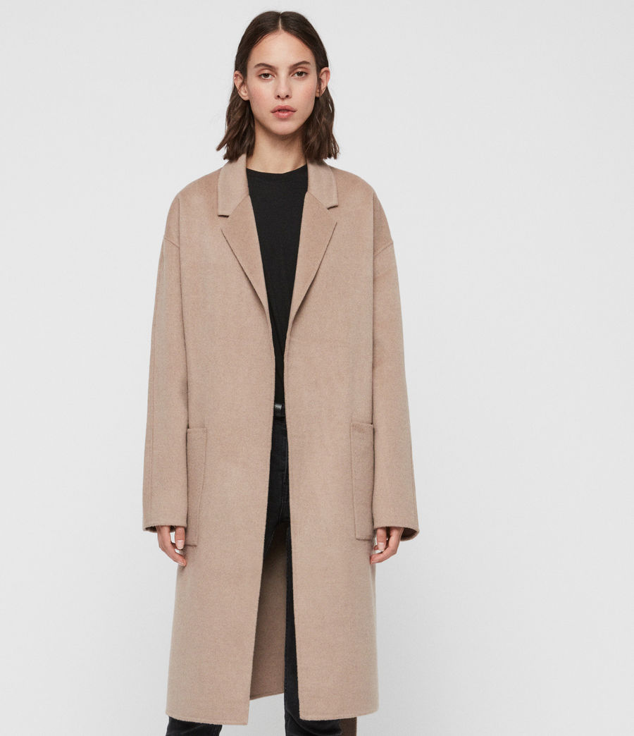 Womens Albie Coat (oatmeal_brown) - Image 1