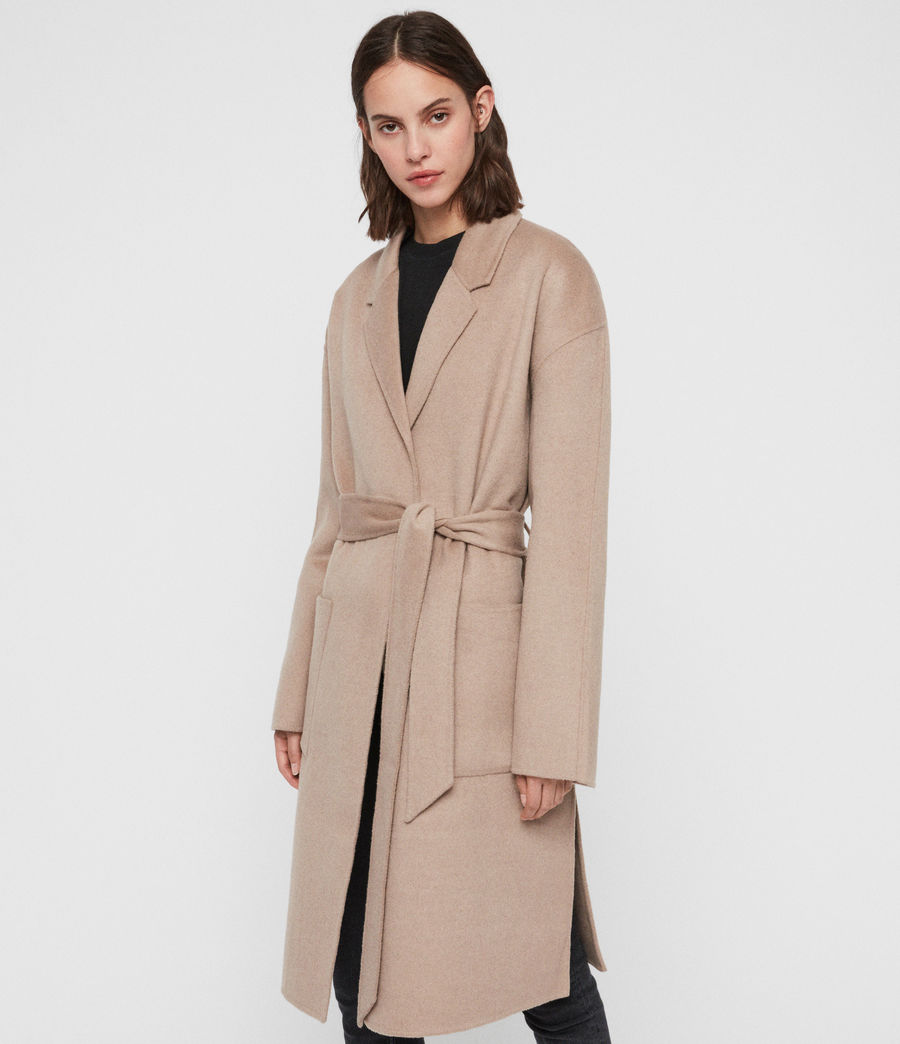 Womens Albie Coat (oatmeal_brown) - Image 2