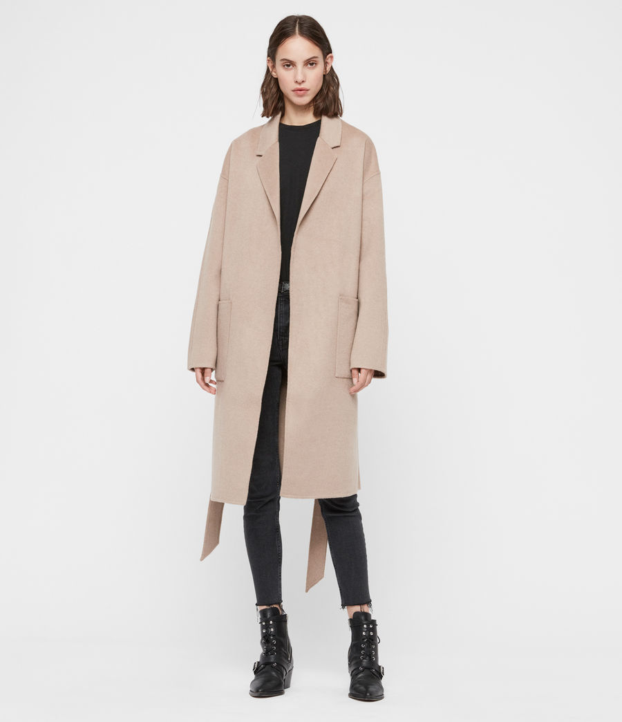 Womens Albie Coat (oatmeal_brown) - Image 3