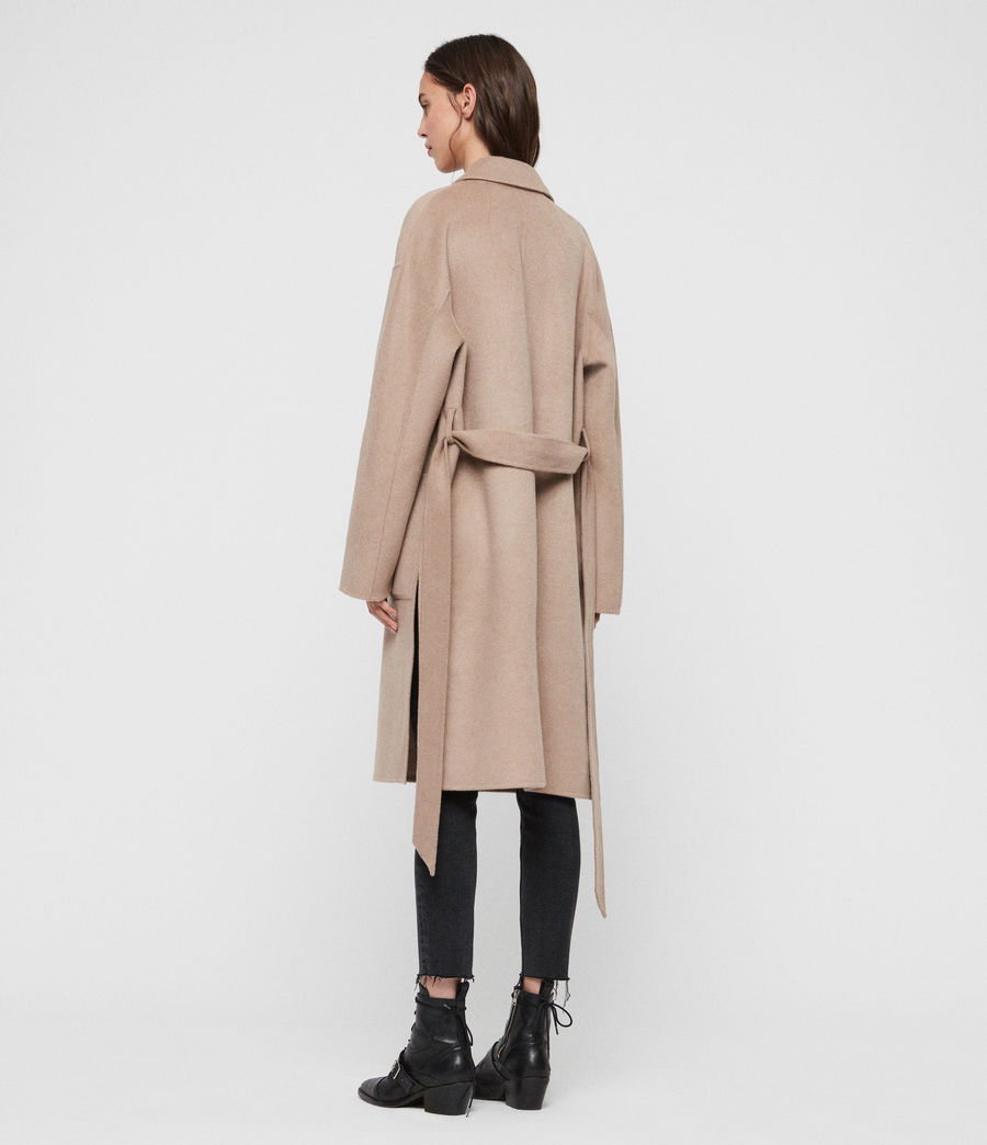 Womens Albie Coat (oatmeal_brown) - Image 7