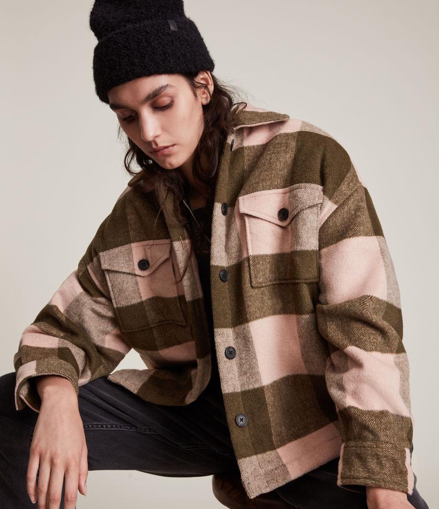 Damen Luella Check Jacket (khaki_pink) - Image 2