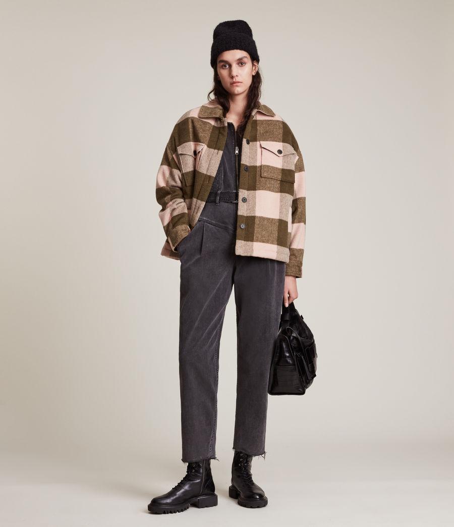 Damen Luella Check Jacket (khaki_pink) - Image 4