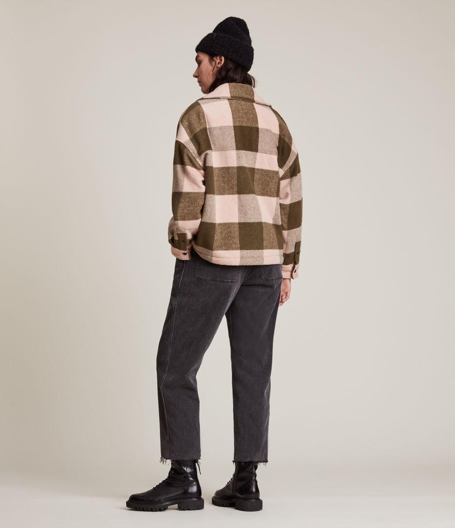 Damen Luella Check Jacket (khaki_pink) - Image 5