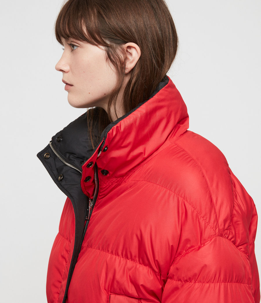 Women's Nala Reversible Puffer Coat (red_black) - Image 2