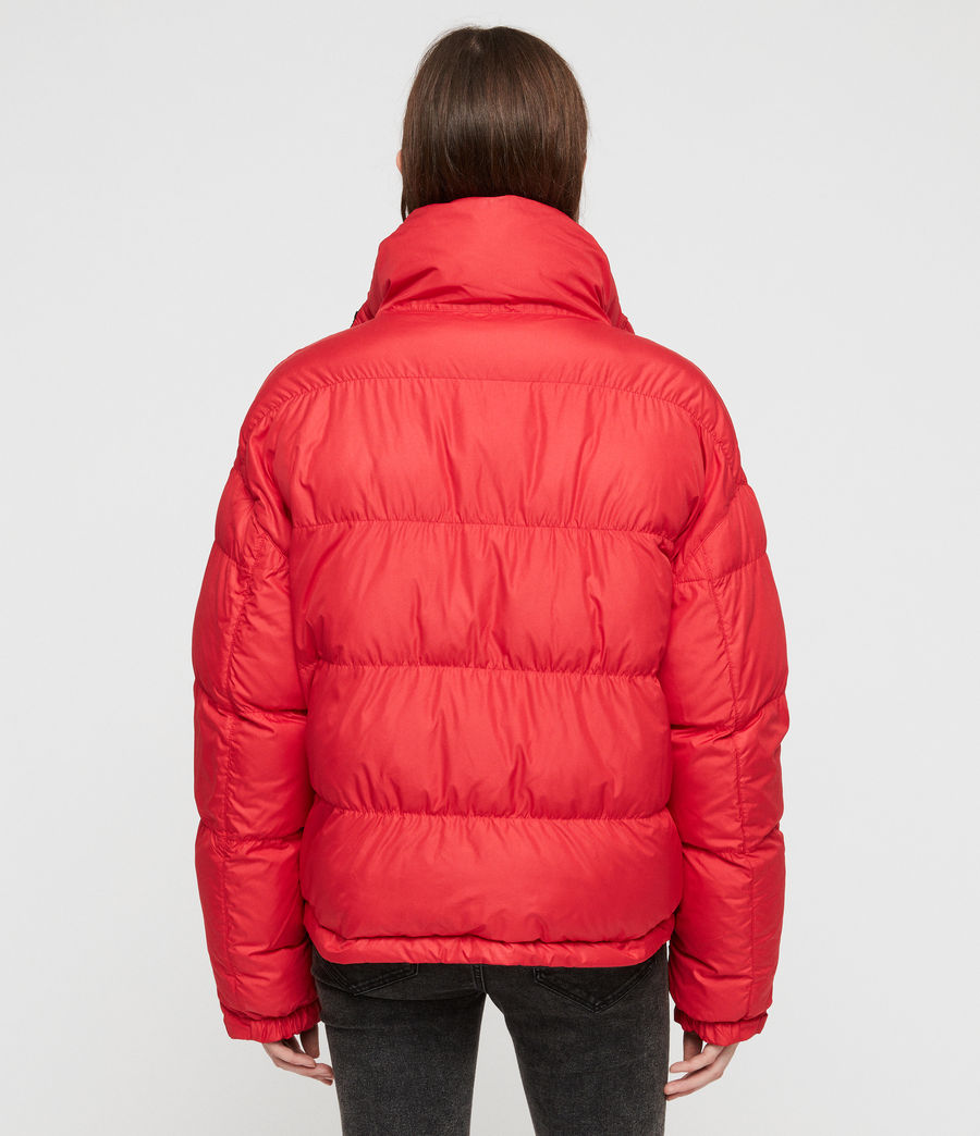 Women's Nala Reversible Puffer Coat (red_black) - Image 9