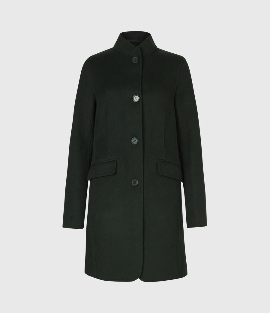Womens Maya Wool Blend Coat (bottle_green) - Image 2
