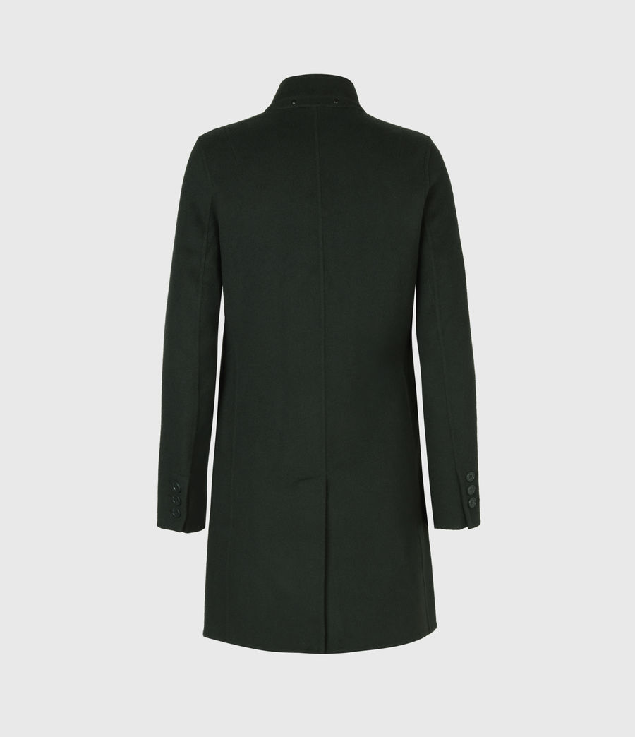 Womens Maya Wool Blend Coat (bottle_green) - Image 3