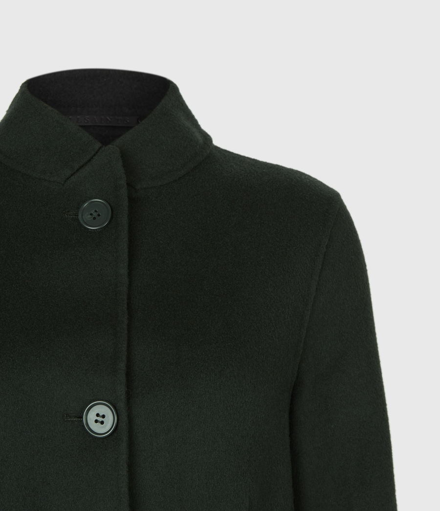 Womens Maya Wool Blend Coat (bottle_green) - Image 4