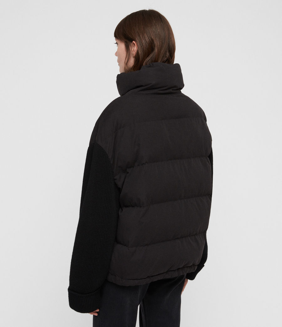 Womens Ines Knit Puffer Coat (black) - Image 6