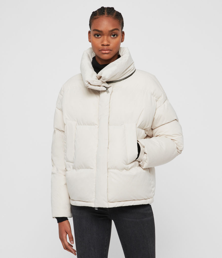 Womens Piper Puffer Coat (black) - Image 5