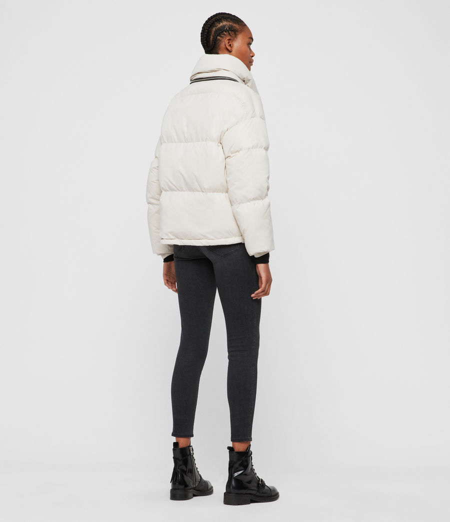 Womens Piper Puffer Coat (black) - Image 6