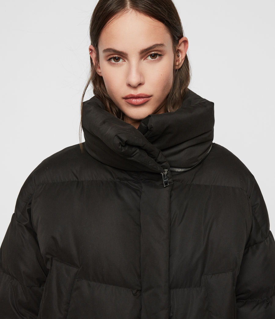 Womens Piper Puffer Coat (black) - Image 1
