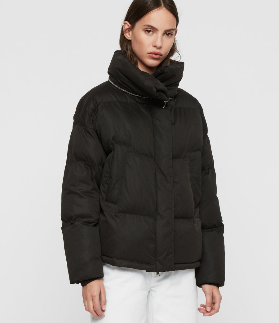 Womens Piper Puffer Coat (black) - Image 3