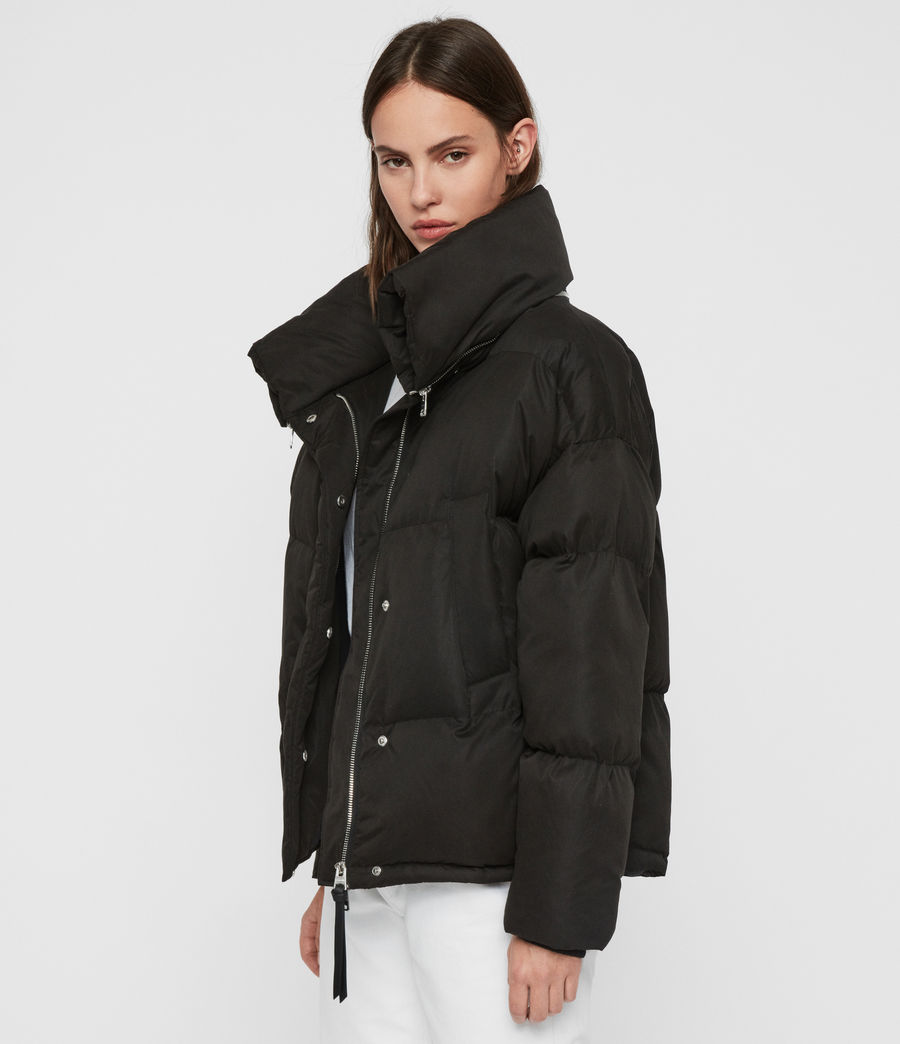 Womens Piper Puffer Coat (ecru_white) - Image 5