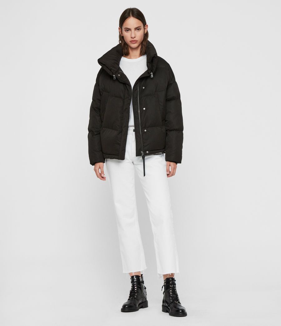 Womens Piper Puffer Coat (ecru_white) - Image 6