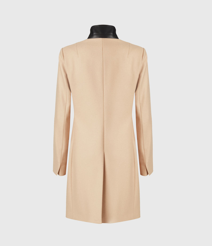 Women's Leni Wool Blend Coat (camel_brown) - Image 3