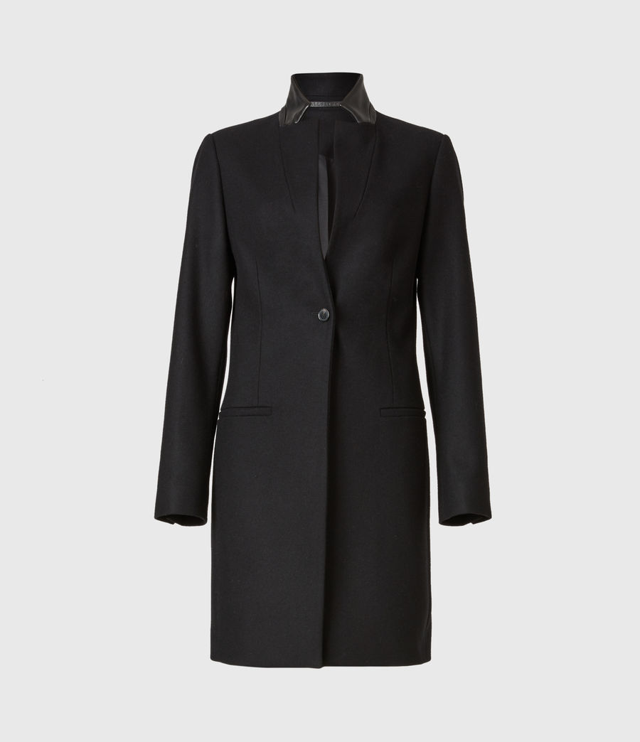 Women's Leni Wool Blend Coat (black) - Image 2