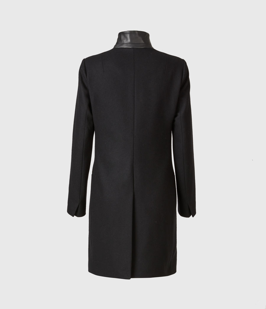 Womens Leni Wool Blend Coat (black) - Image 3