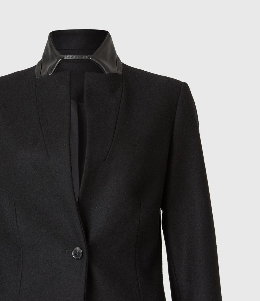 Womens Leni Wool Blend Coat (black) - Image 5