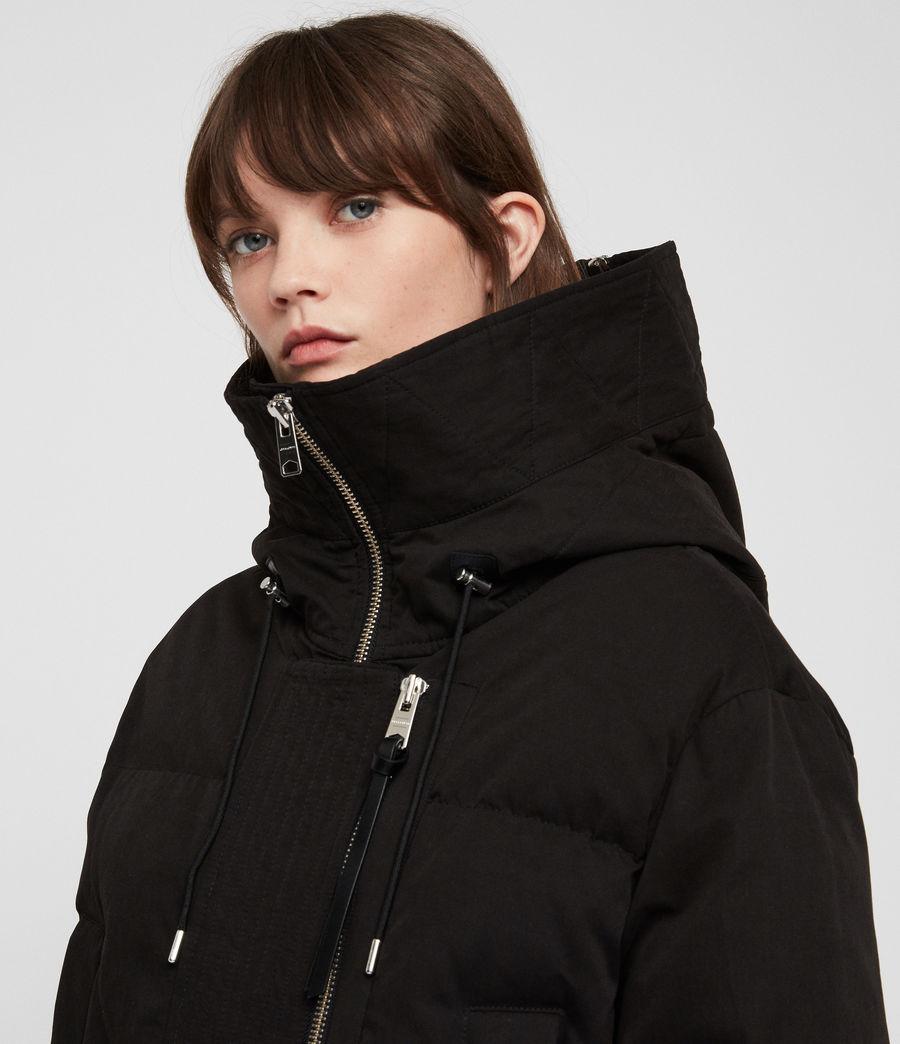 Women's Quinn Puffer Coat (black) - Image 2
