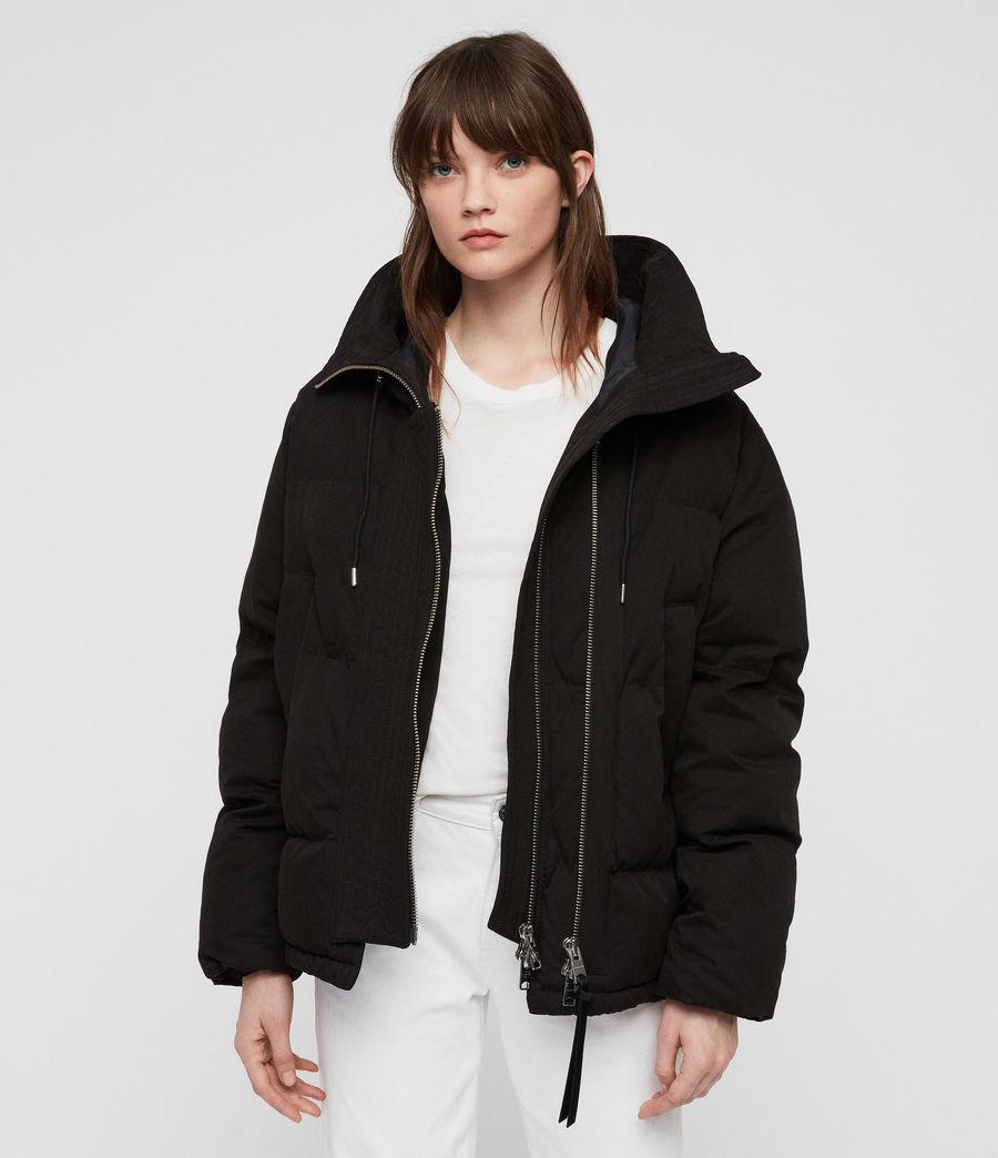 Women's Quinn Puffer Coat (black) - Image 3