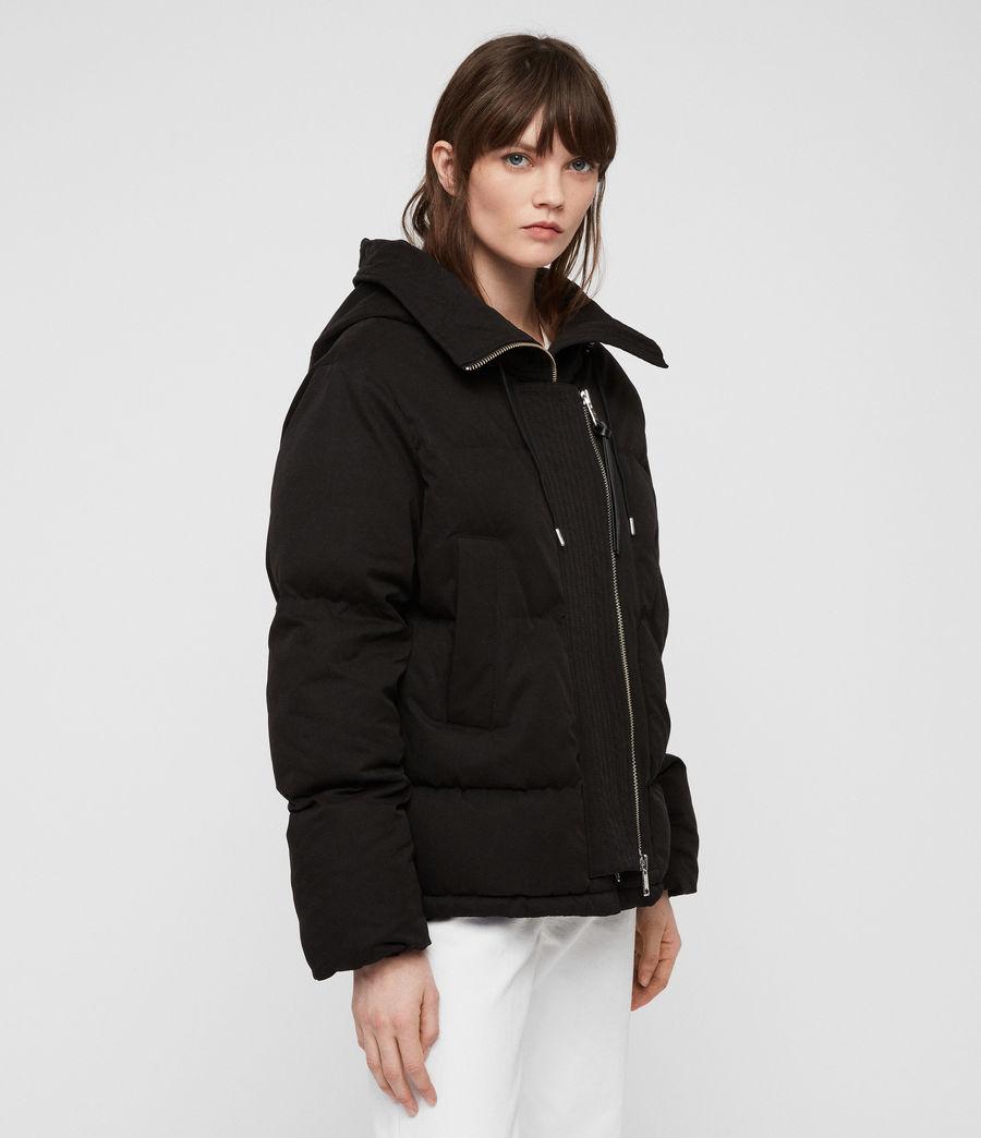Women's Quinn Puffer Coat (black) - Image 4