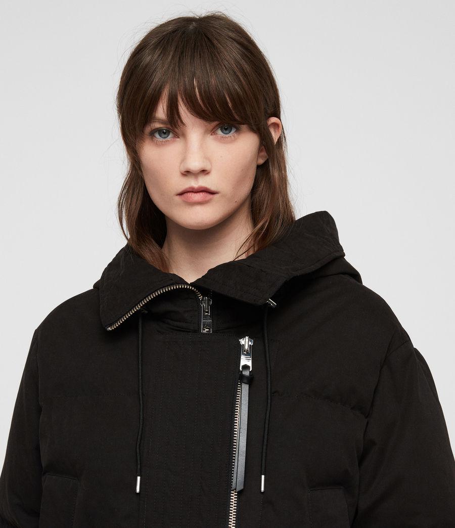 Women's Quinn Puffer Coat (black) - Image 5