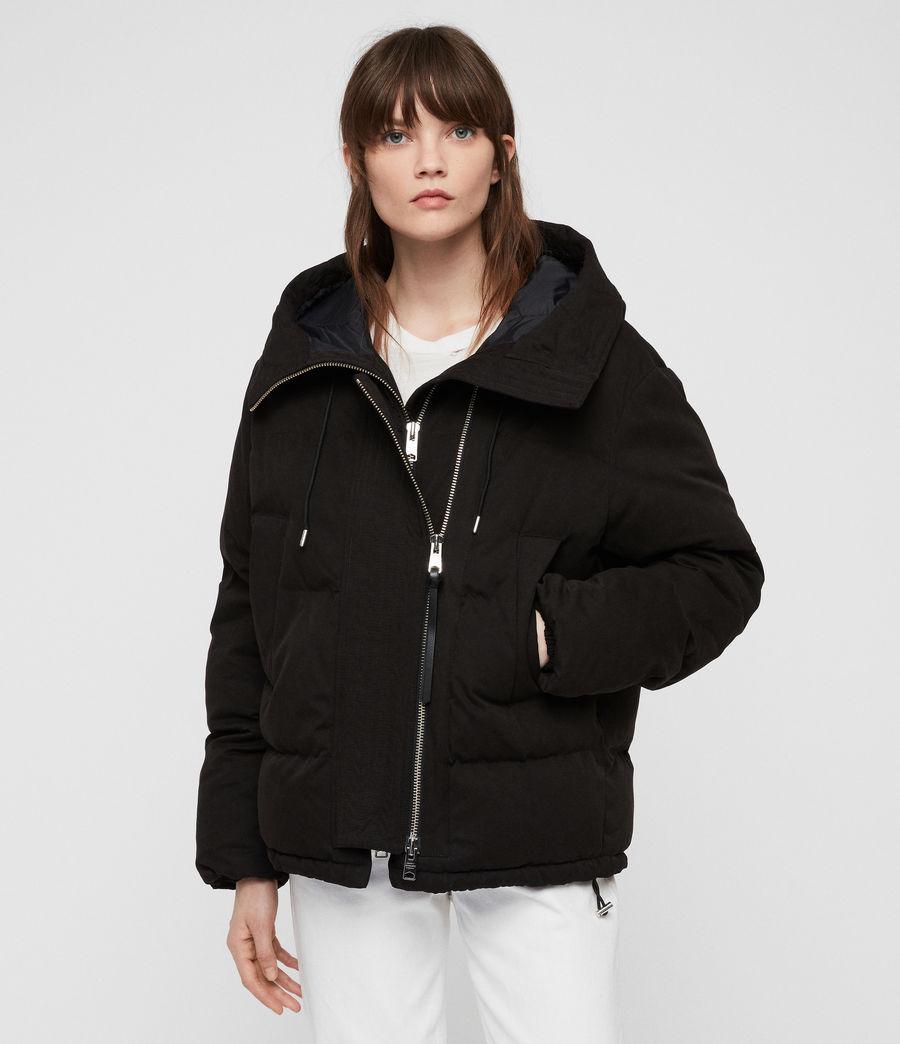 Women's Quinn Puffer Coat (black) - Image 6