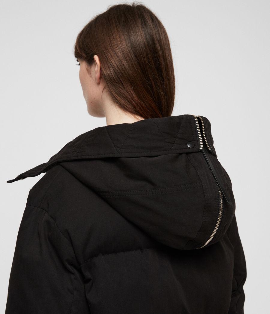 Women's Quinn Puffer Coat (black) - Image 7