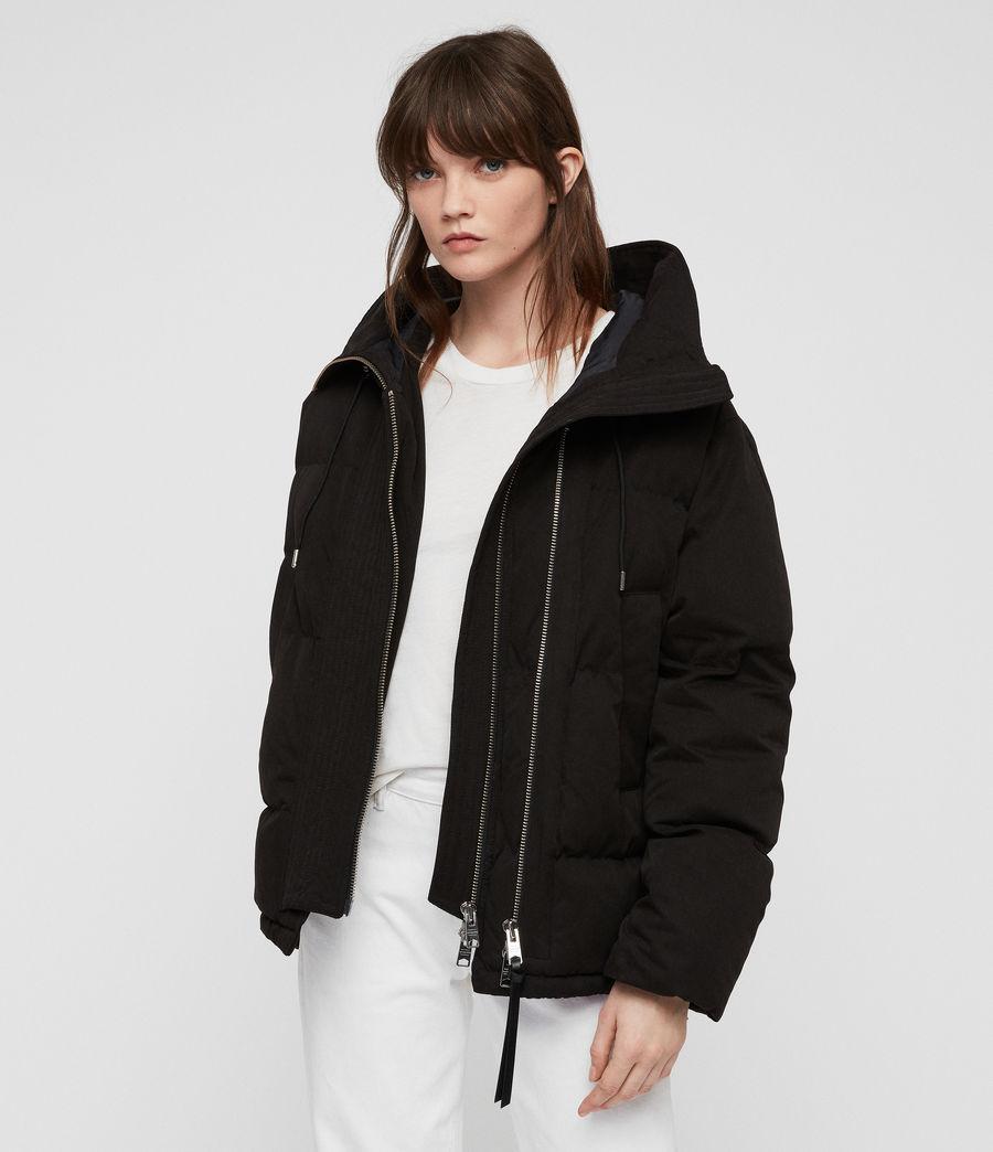 Women's Quinn Puffer Coat (black) - Image 8