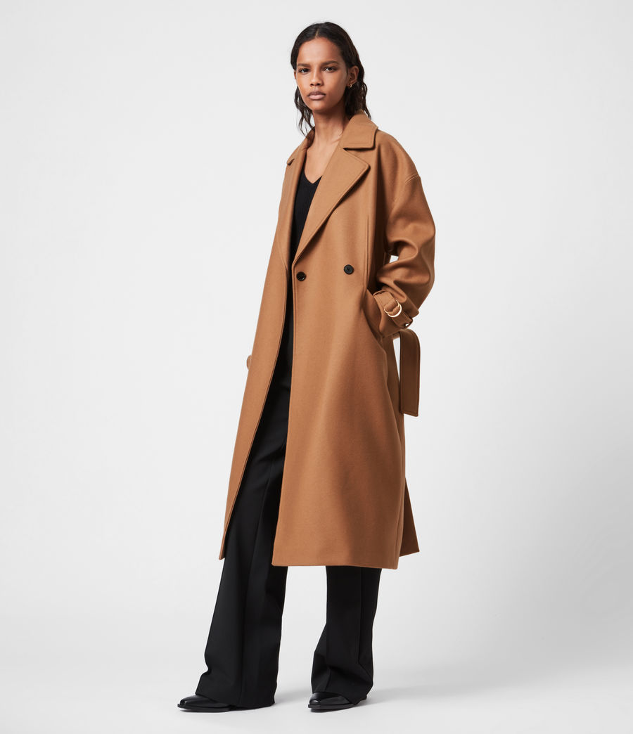 Women's Wilma Wool-Cashmere Blend Coat (camel_brown) - Image 1