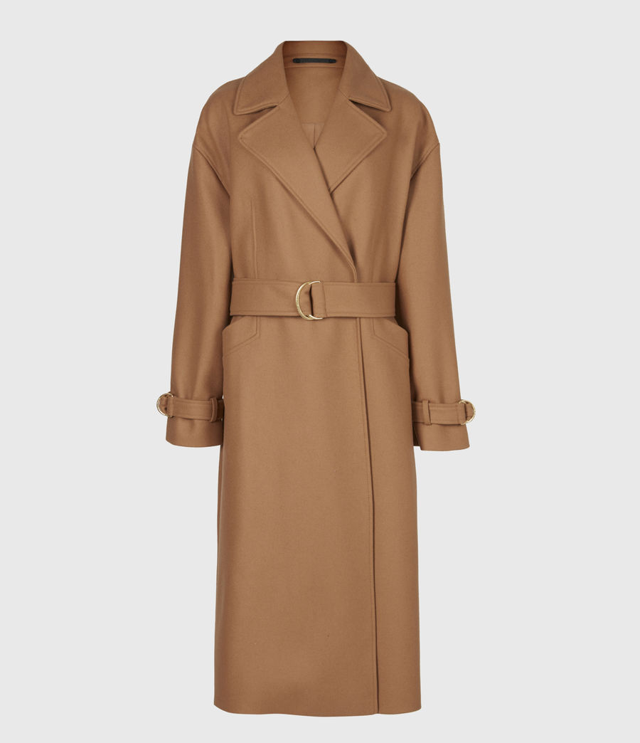 Women's Wilma Wool-Cashmere Blend Coat (camel_brown) - Image 2