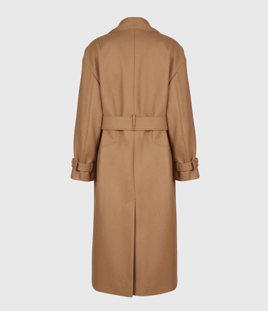 Women's Wilma Wool-Cashmere Blend Coat (camel_brown) - Image 3