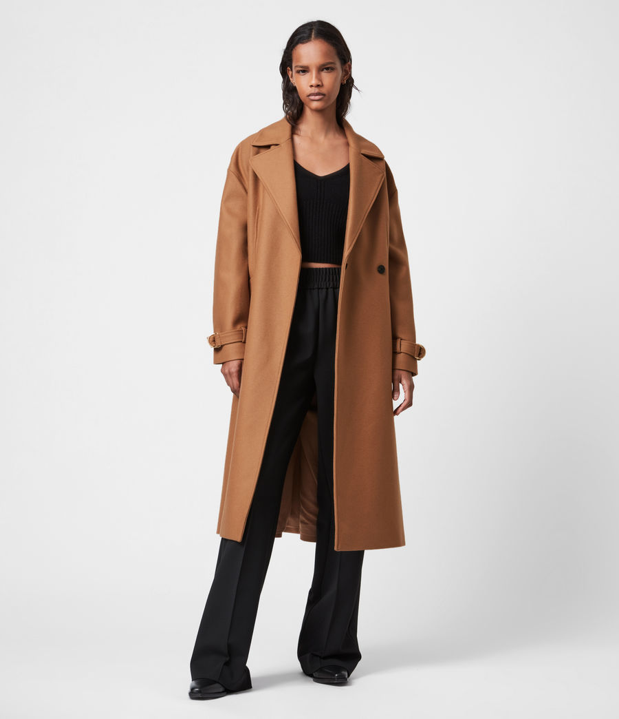 Women's Wilma Wool-Cashmere Blend Coat (camel_brown) - Image 4
