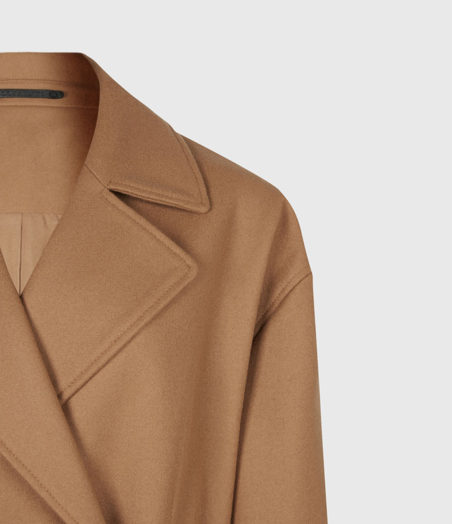 Women's Wilma Wool-Cashmere Blend Coat (camel_brown) - Image 5