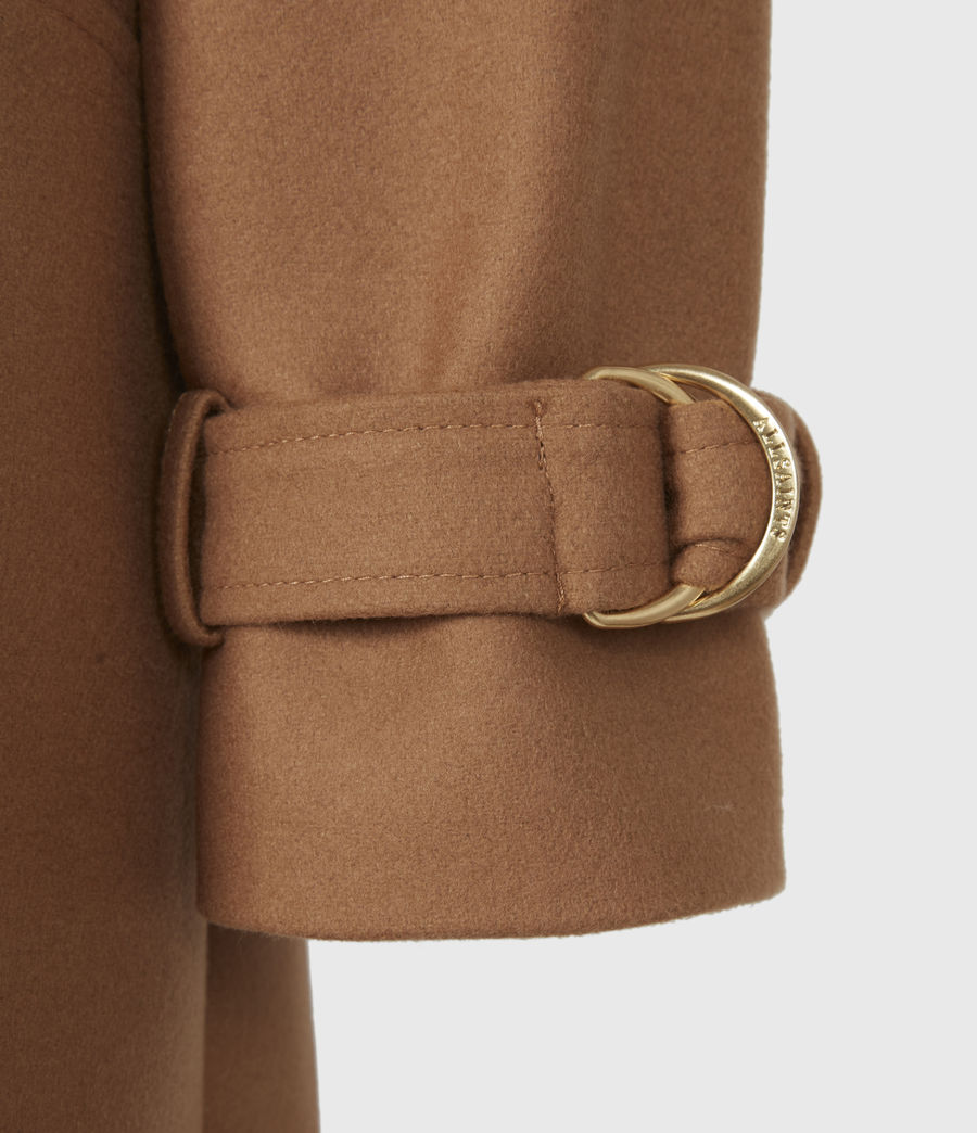 Women's Wilma Wool-Cashmere Blend Coat (camel_brown) - Image 6