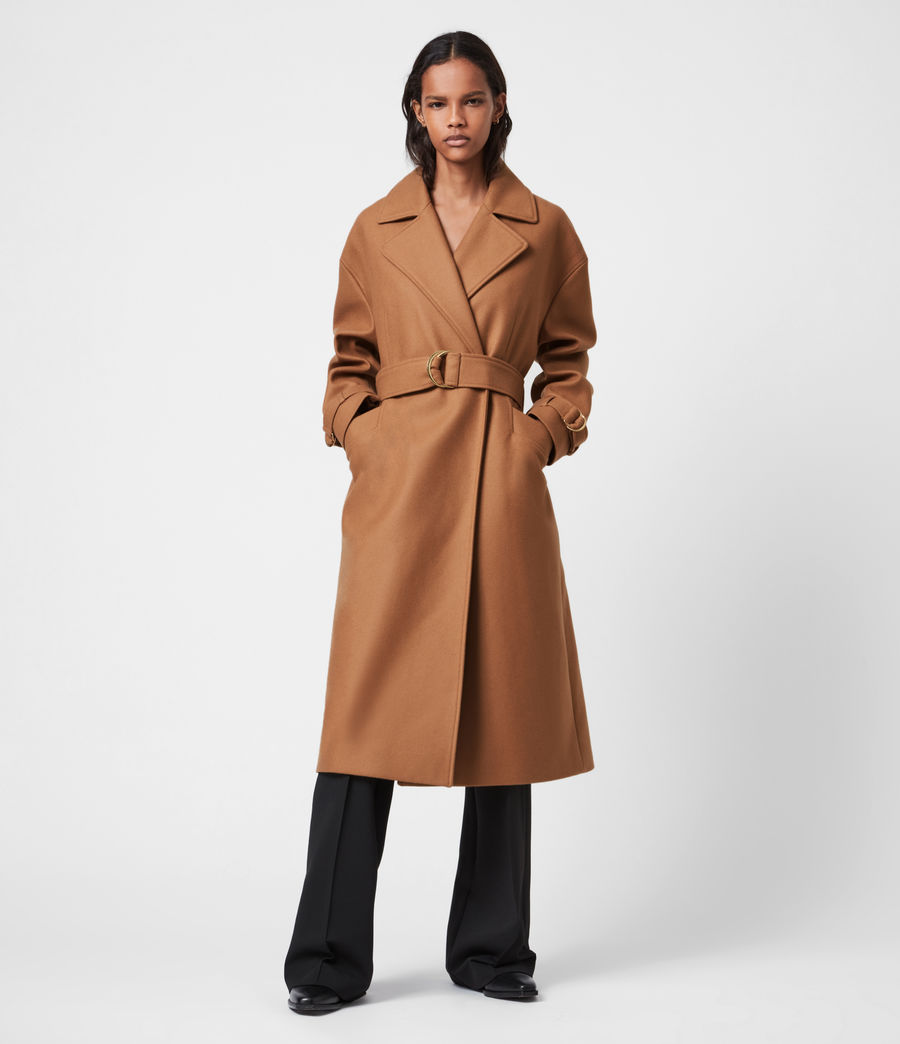 Women's Wilma Wool-Cashmere Blend Coat (camel_brown) - Image 7