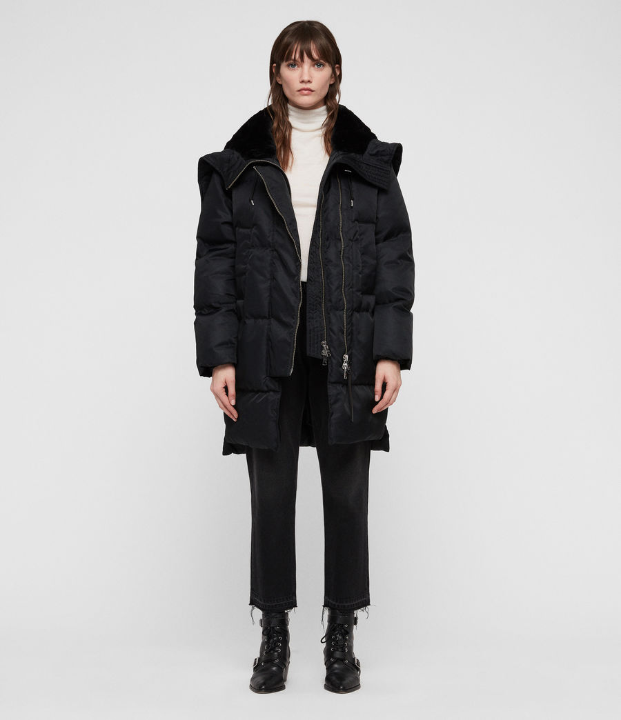 Women's Kayla Puffer Coat (ink_blue) - Image 1