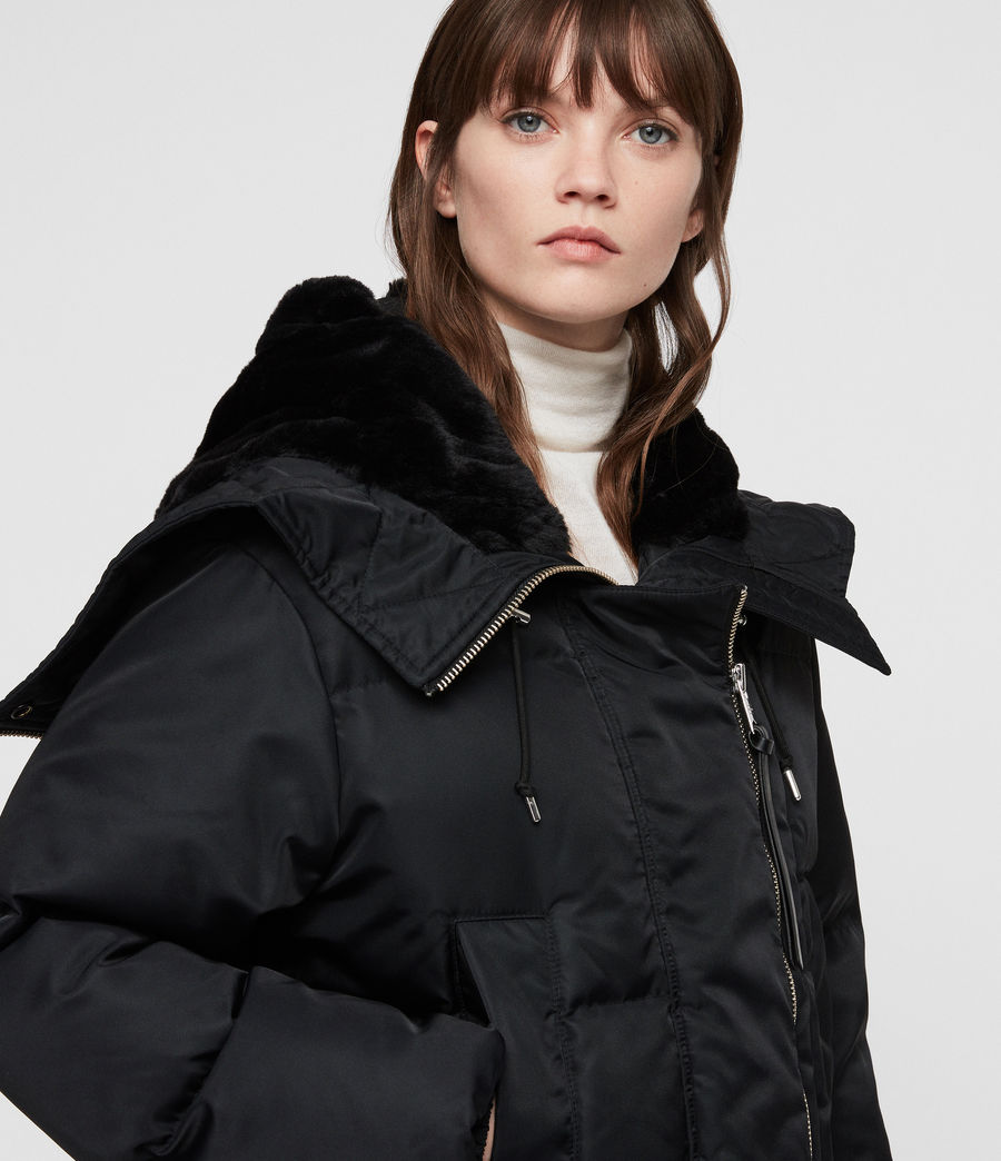 Women's Kayla Puffer Coat (ink_blue) - Image 2