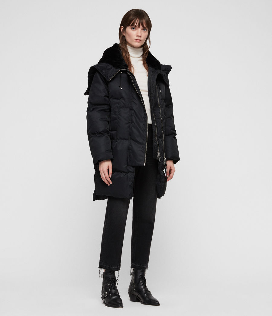 Women's Kayla Puffer Coat (ink_blue) - Image 3