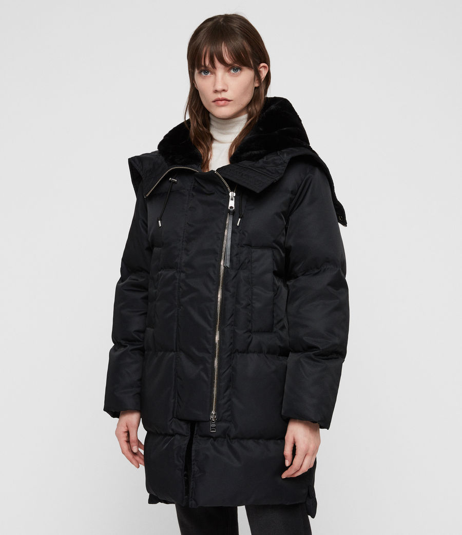 Women's Kayla Puffer Coat (ink_blue) - Image 5