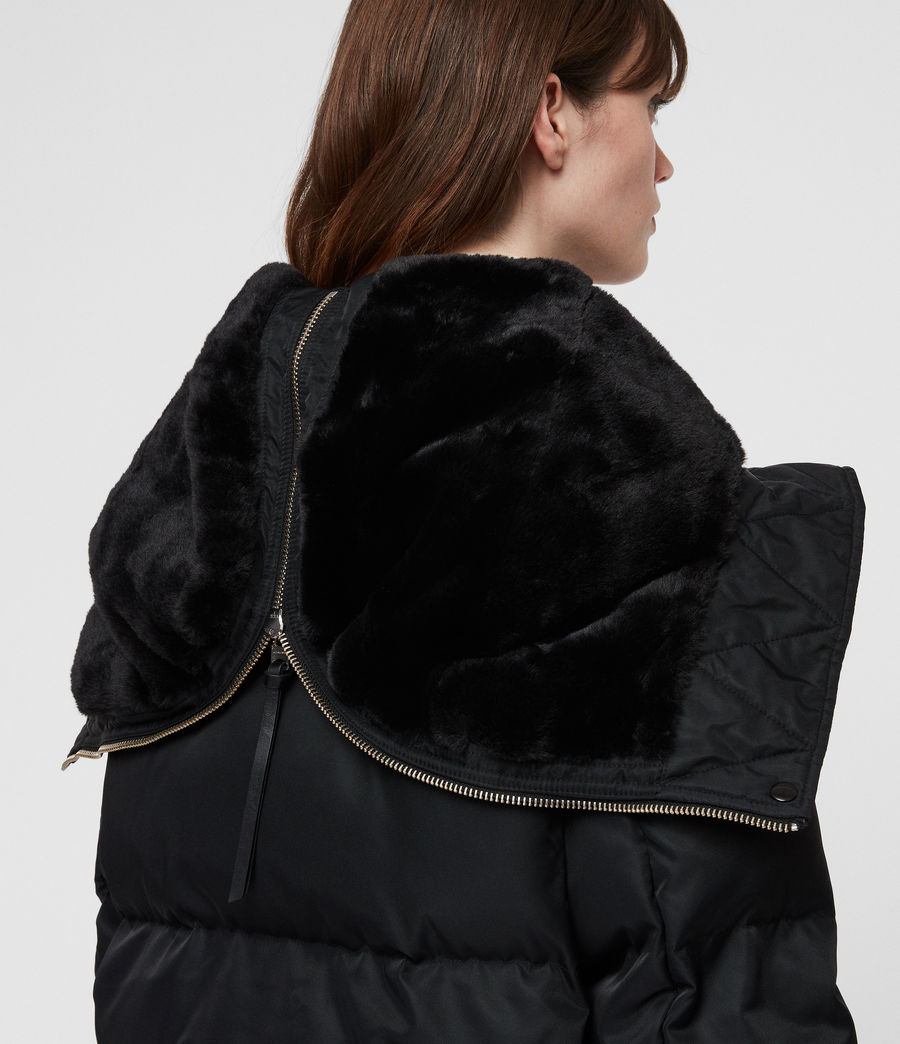 Women's Kayla Puffer Coat (ink_blue) - Image 8