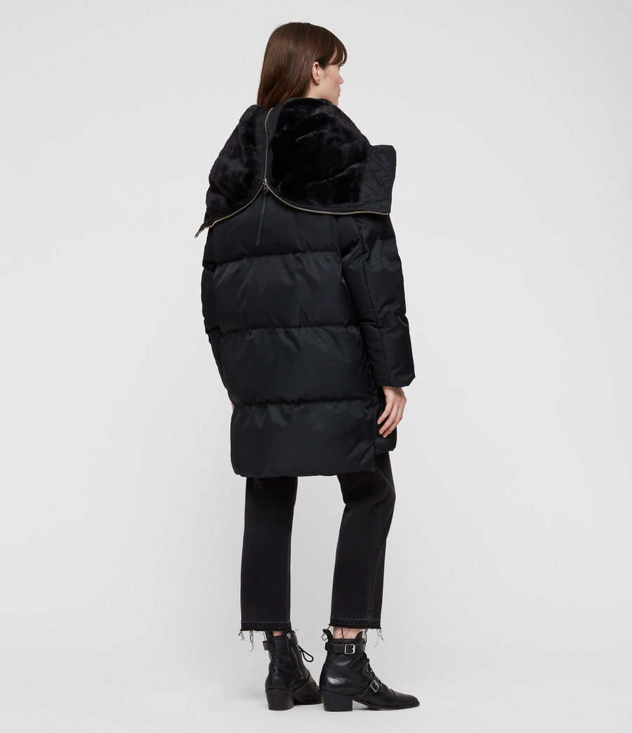 Women's Kayla Puffer Coat (ink_blue) - Image 4
