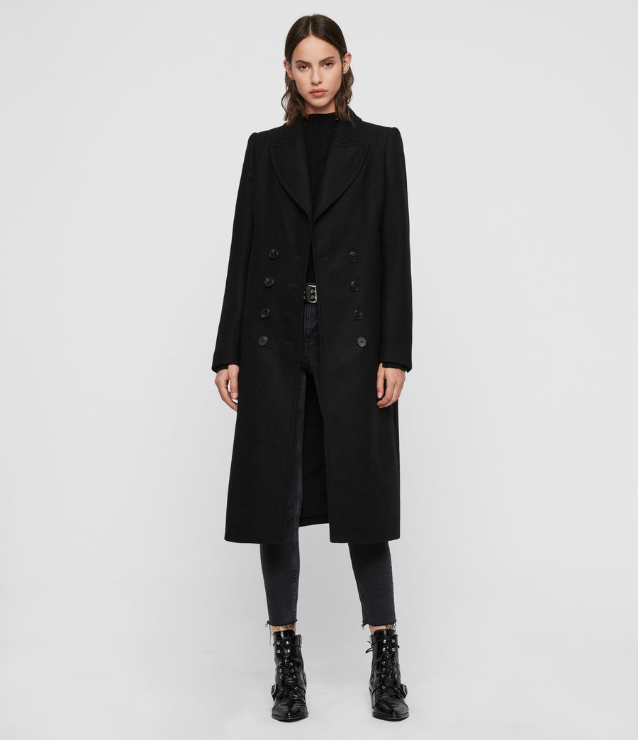 Women's Blair Shadow Coat (black) - Image 1