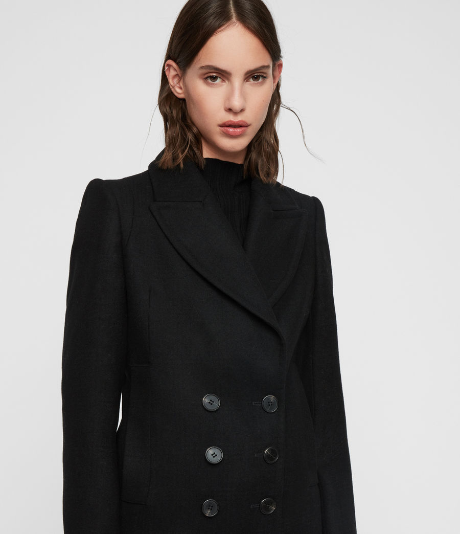 Women's Blair Shadow Coat (black) - Image 2