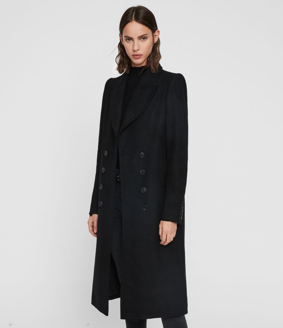 Women's Blair Shadow Coat (black) - Image 3